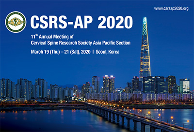 11th Annual Meeting of Cervical Spine Research Society Asia Pacific Section (CSRS-AP 2020)